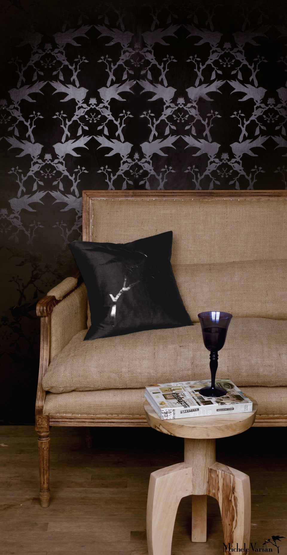 Thornbird Wallpaper Black Black