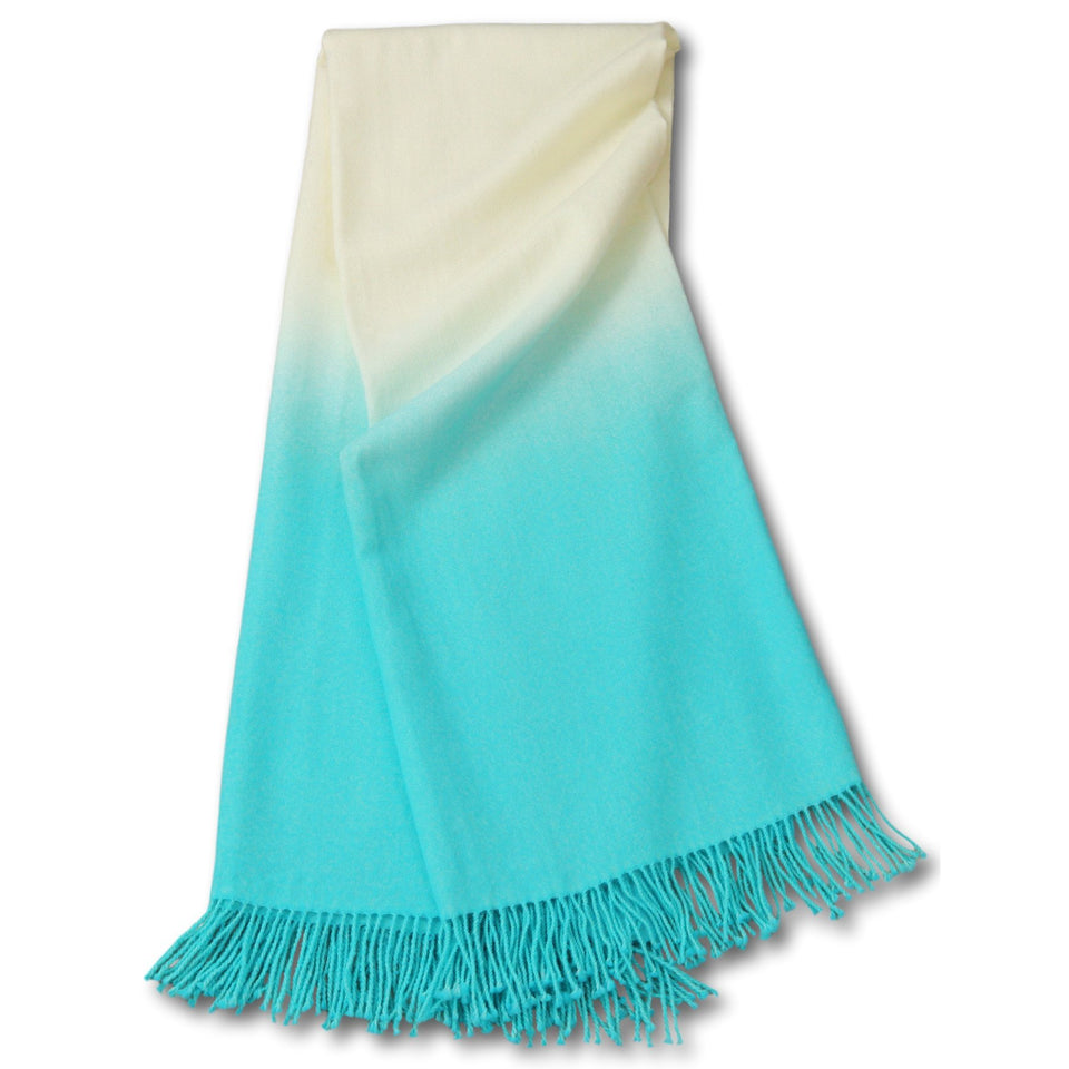 Dip-Dyed Throw
