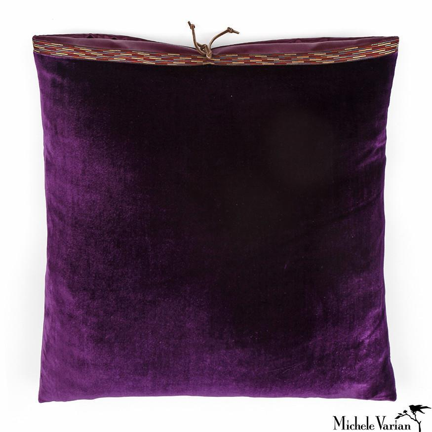 Silk Velvet Pillow Plum 20x20