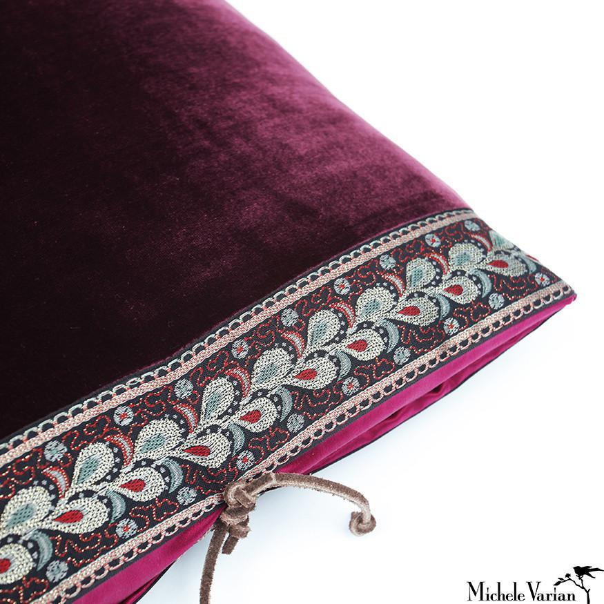 Silk Velvet Pillow Shiraz 20x20