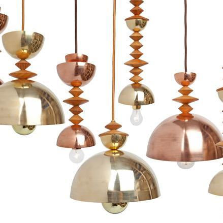 Mala Pendant Light No. 5 in Brass