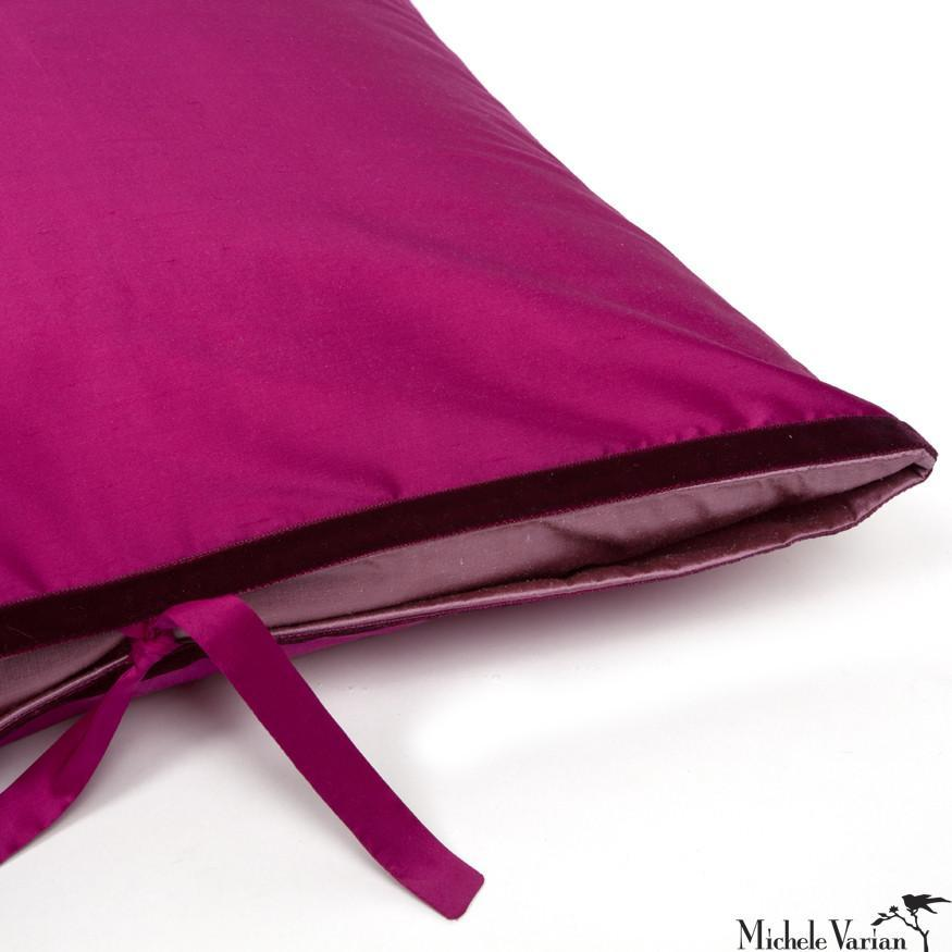 Silk Dupioni Pillow Flamenco Pink 22x22