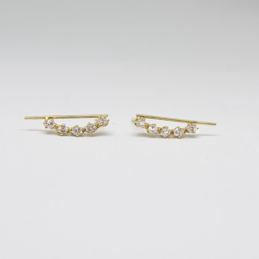 Magic Line Stud Earrings