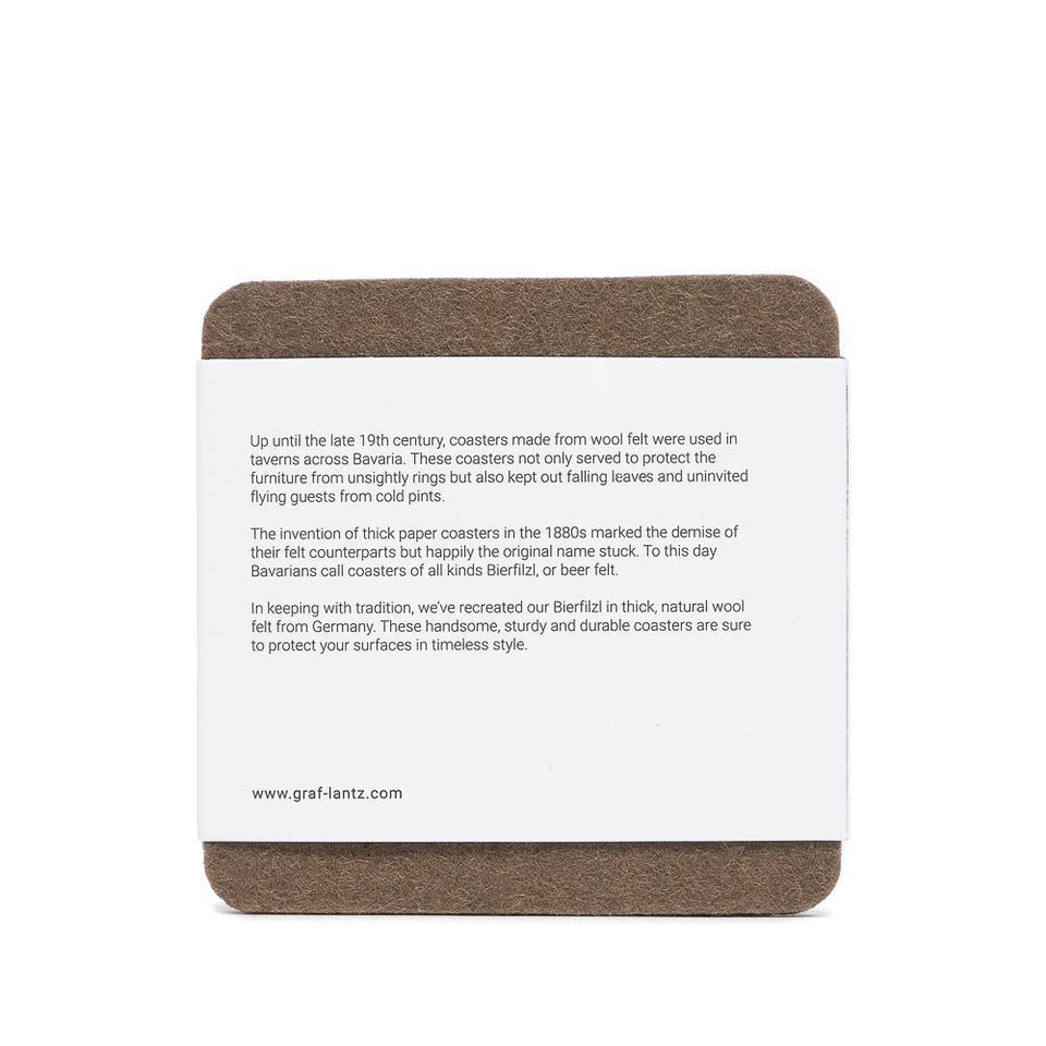 Bierfilzl Square Multi Color Felt Coaster