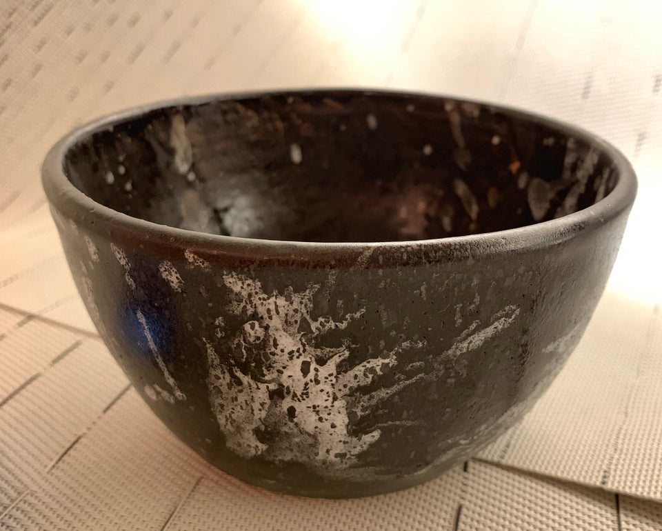 POKE BOWL - LEATHER & WHITE SPLASH