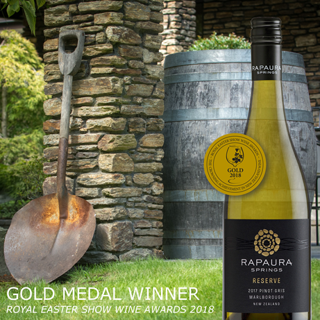 2017 Reserve Marlborough Pinot Gris wins GOLD!