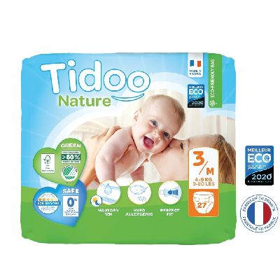 Couches Single Pack T3/M 4   9 Kg 27 Uvc Tidoo
