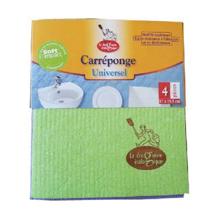 Carre Eponge Cellulose X4