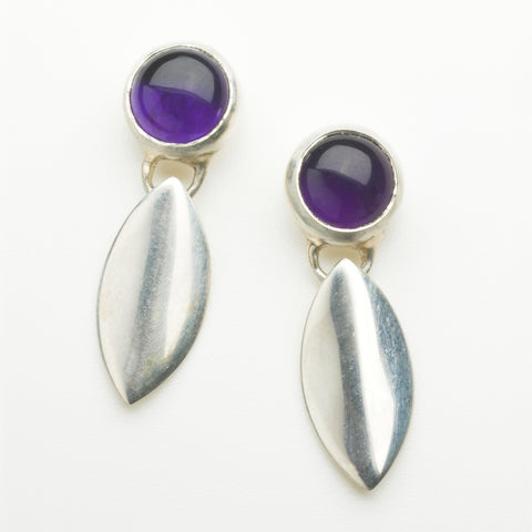 Amethyst and silver Lily earrings.