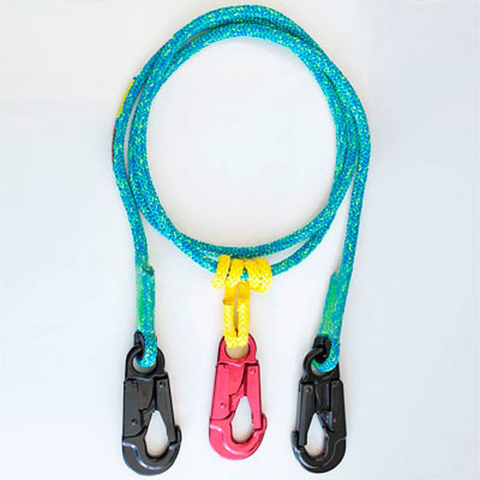 Rope Logic's 2-N-1 Lightning Blue Lanyard