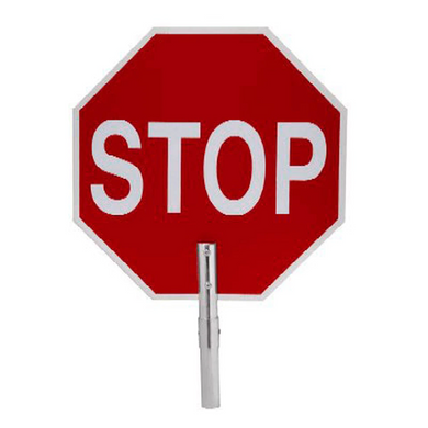 Marvin STOP SLOW Sign With Adapter