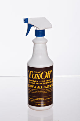 Hygenall® ToxOff™ Wipe on, Wipe off, Surface/Equipment Cleaner and Decontamination, ok to spray on PPE