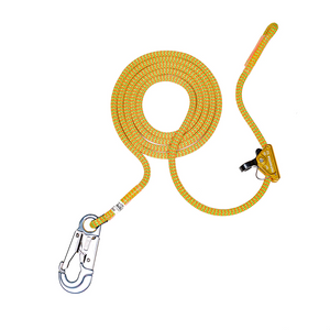 Yale Cordage 11.7mm Tropical Ivy Flipline With Rock Grab & Cordura 12ft