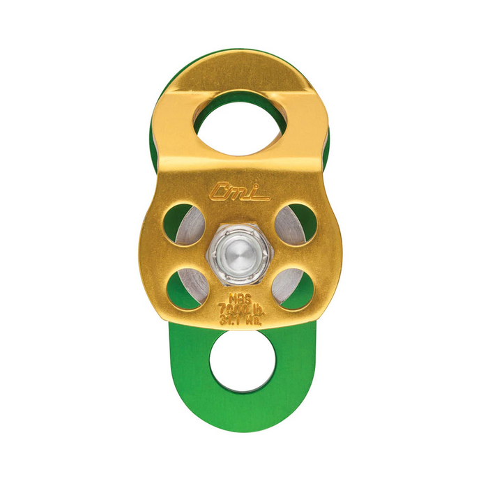 CMI Double Micro Block Pulley With Becket. Works With Up To 1/2in. Rope