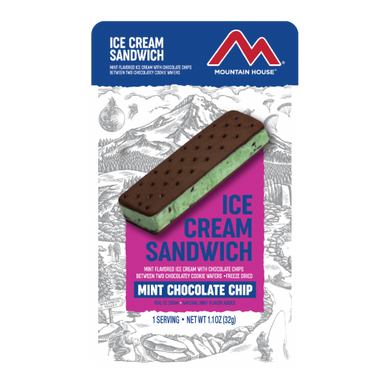 Mint Chocolate Chip Ice Cream Sandwich (12 pouches/case)
