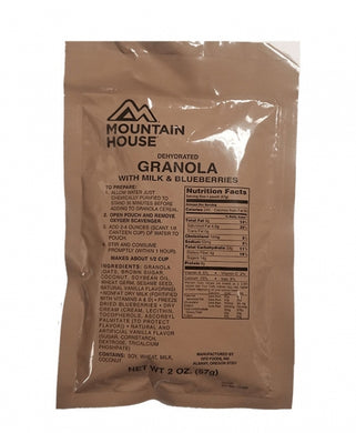Granola  with Milk & Blueberries  (6 pouches/case)