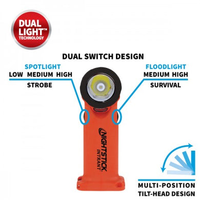 XPP-5566RX INTRANT® Intrinsically Safe Dual-Light™ Angle Light - 3 AA