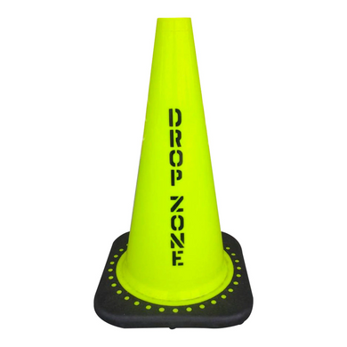JBC Non-Reflective Drop Zone Cone 18in Lime