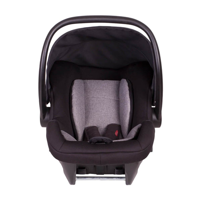 phil&teds alpha car seat front on view_black/grey marl