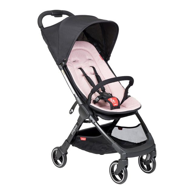 phil&teds go light and compact buggy in blush pink 3 qtr view_blush