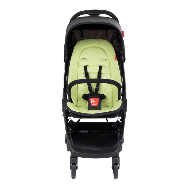 phil&teds go light and compact buggy in apple green front view_apple