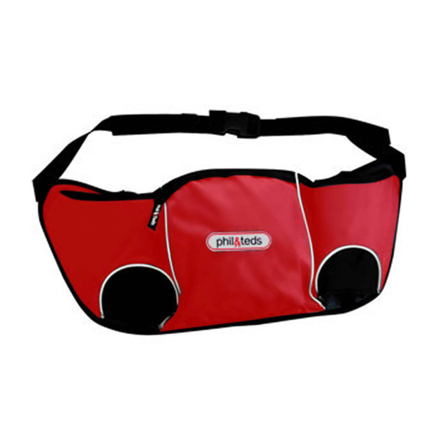 phil&teds hangbag storage bag in red front on view_red