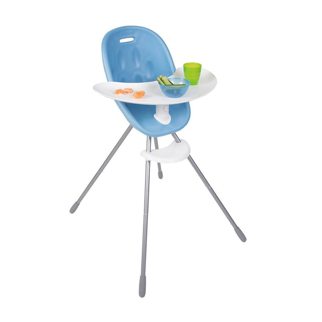 phil&teds award winning poppy high chair with close up of food tray in bubblegum 3/4 view _bubblegum