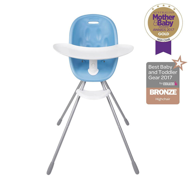 phil&teds award winning poppy high chair with food tray in bubblegum front view _bubblegum