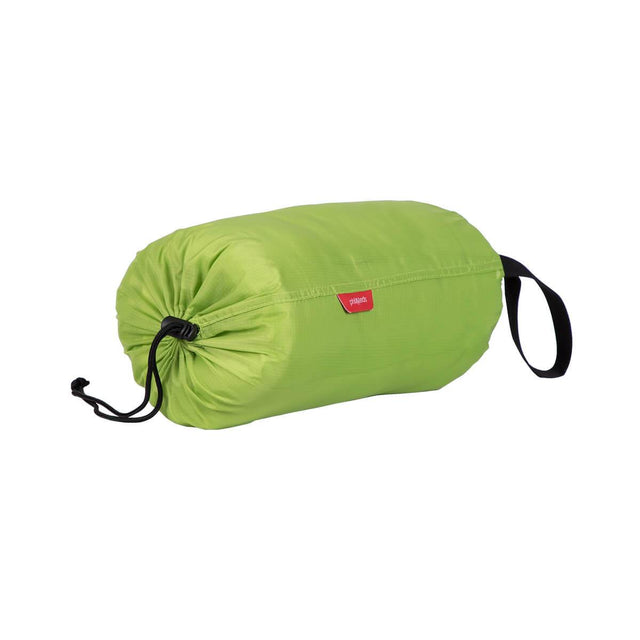 phil&teds snuggle & snooze sleeping bag in apple compactly packed 3/4 view_apple