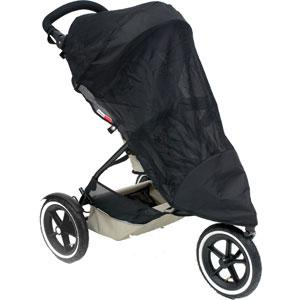 phil&teds legacy sport sun cover single on buggy 3qtr view_default