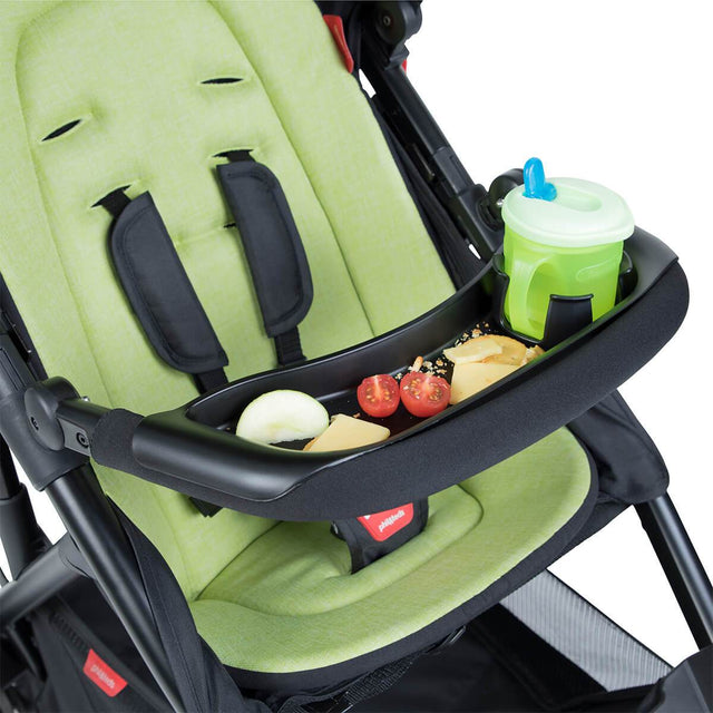 phil&teds food tray angehängt an buggy_black