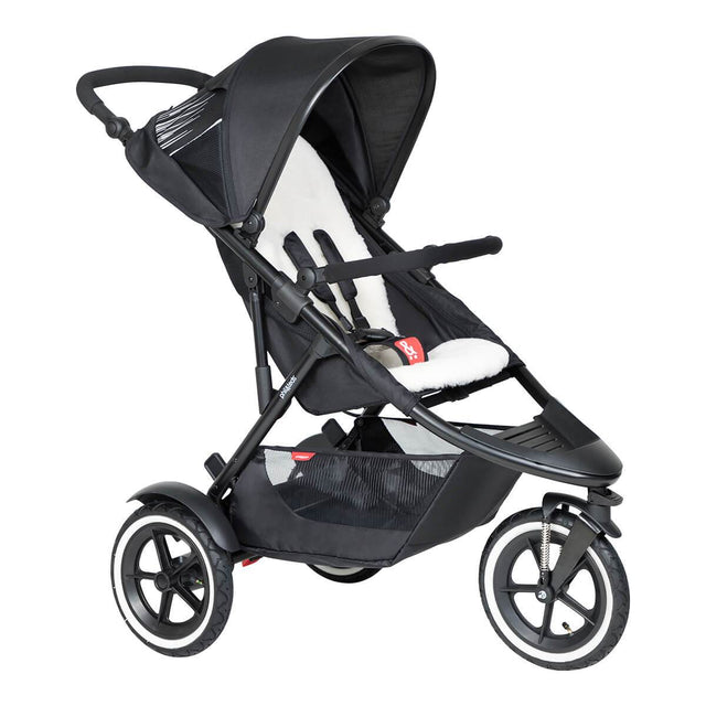phil&teds sport Buggy mit lambswool liner 3qtr view_natural