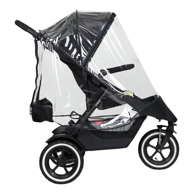 phil&teds sport  buggy con storm cover side view_default