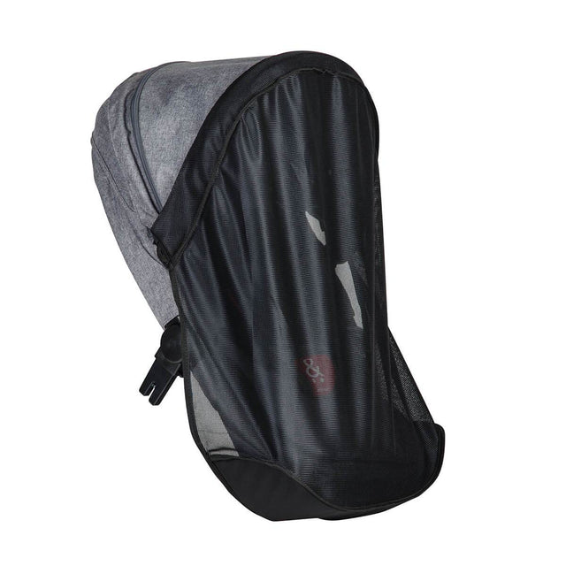 phil&teds voyager adaptable modular stroller charcoal grey double kit strom cover 3qtr view_default