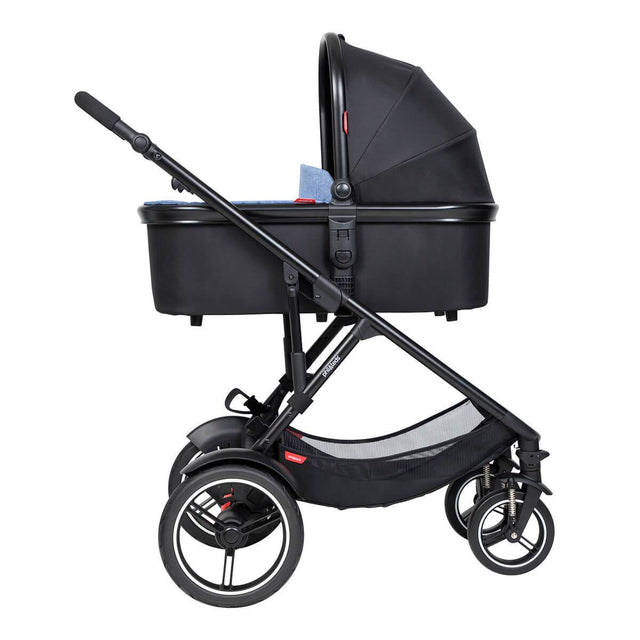 phil&teds voyager inline buggy with lie flat snug carrycot
