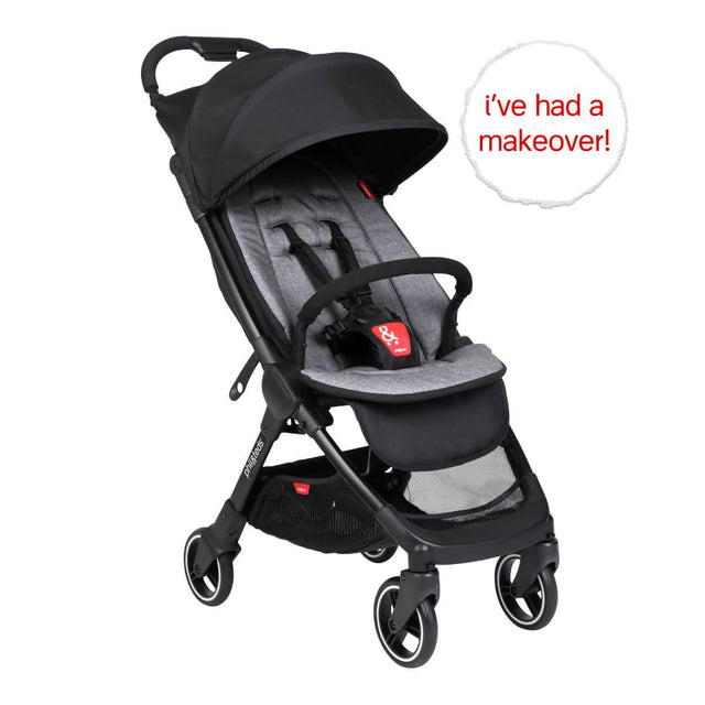 go™ 2020+ compact umbrella stroller with charcoal grey colour liner