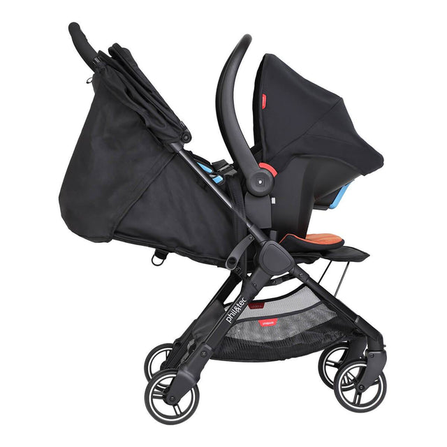 go™ 2020+ poussette parapluie compacte travel system avec option alpha infant car seat  de côté