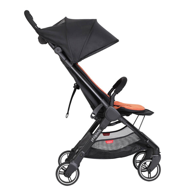 go™ 2020+ compact umbrella stroller in upright riding mode from side on