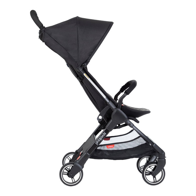 phil&teds go light and compact buggy in charcoal side view_charcoal