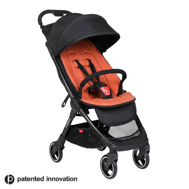 go™ 2020+ compact umbrella stroller with rust coloured liner