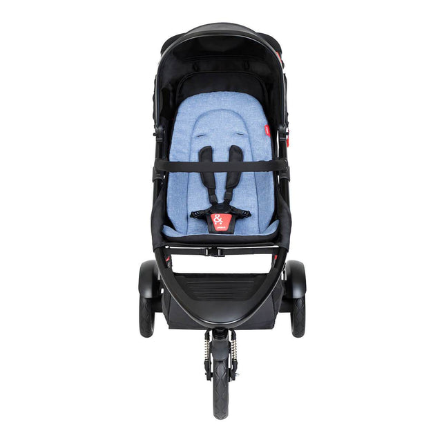 phil&teds dot buggy with sky liner front view_sky