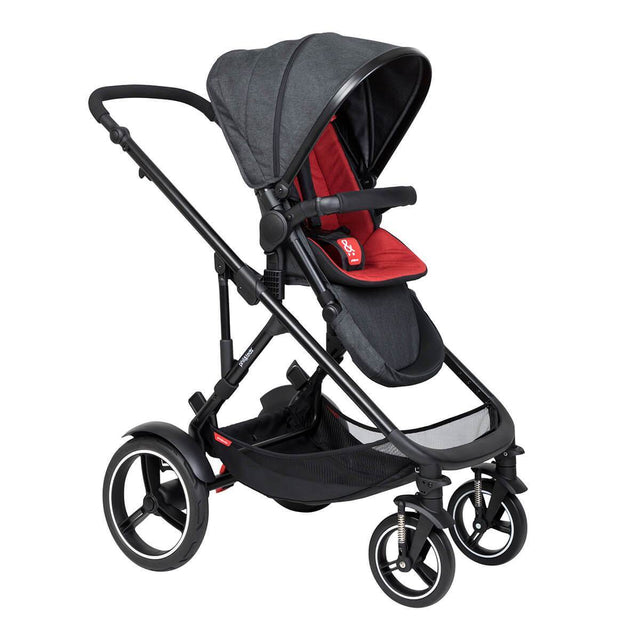 phil&teds voyager inline buggy in chilli red colour