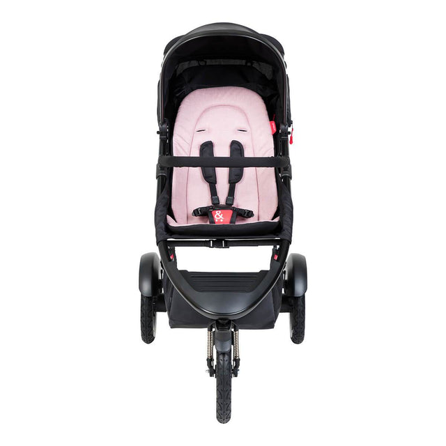 phil&teds sport inline buggy in blush pink front view_blush
