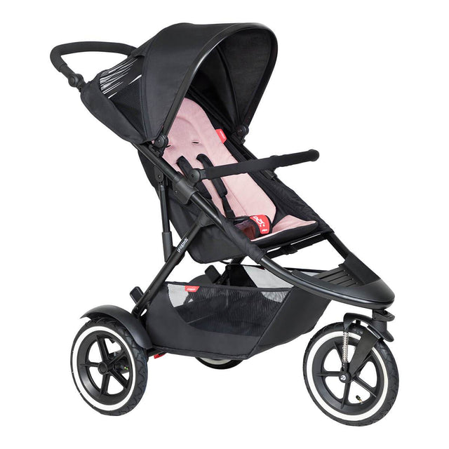phil&teds sport inline Buggy in rosa 3qtr view_blush