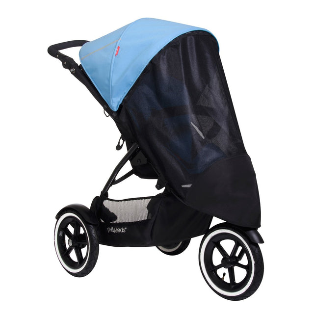 phil&teds navigator buggy with single sun cover 3 qtr view_mesh
