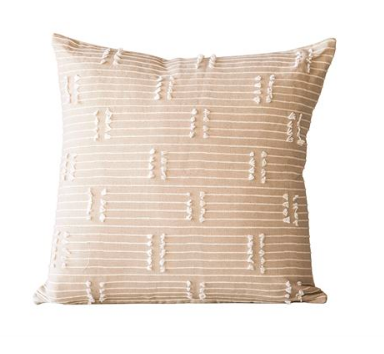 Woven Cotton Tassel Pillow 18""