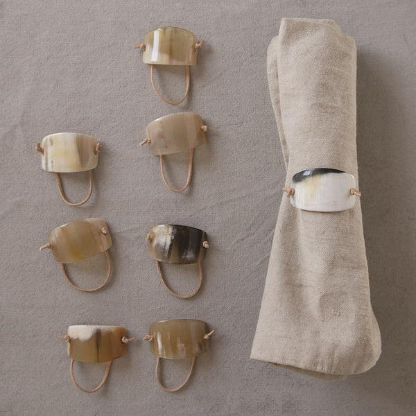 Horn & Suede Napkin Ring