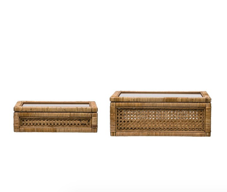 Rattan Display Box