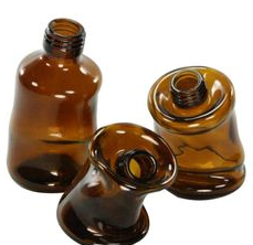 Slumped Glass Brown Bottle