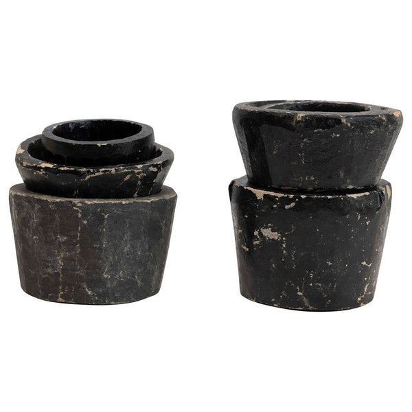Carved Granite Blk Bowls